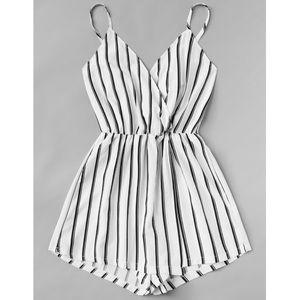 Pants - 1️⃣ LEFT! NEW Black & White Striped Romper
